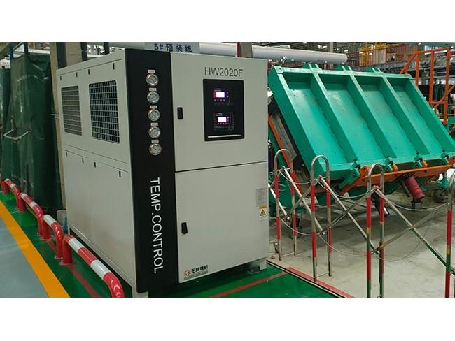 注塑动定模分开控温,冷热一体机,冷热两用温度控制机是如何控温的?